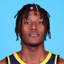 Myles Turner records his fourth consecutive double-double against the Magic photo
