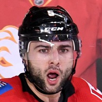 Mark Giordano scores a goal Monday versus the Capitals photo