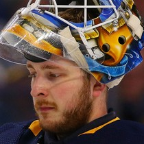 Linus Ullmark gets the win on Tuesday against the Blues photo